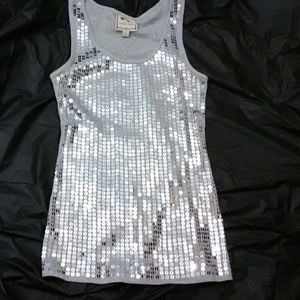 NWOT Pink Rose Sequined Tank